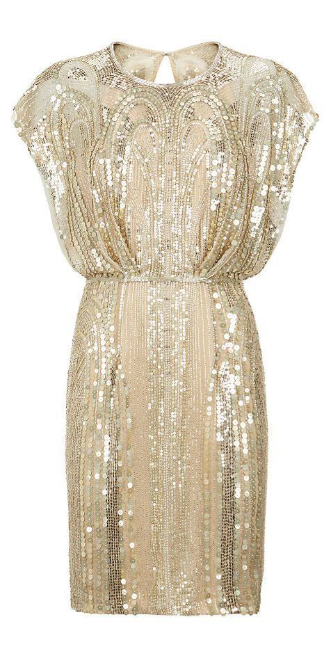 JENNY PACKHAM Embellished Butterfly Sleeve Dress jaglady