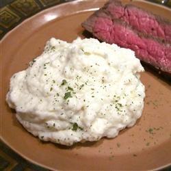 Garlic Mashed Cauliflower Recipe -   I made this tonight with London Broil and LOVED it!  Very important to reheat once it's blended.