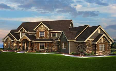 Spacious Craftsman Home Plan - 9527RW | Craftsman, Mountain, Traditional, Luxury, Photo Gallery, Premium Collection, 1st Floor Master Suite, Butler Walk-in Pantry, CAD Available, Den-Office-Library-Study, In-Law Suite, Jack & Jill Bath, Media-Game-Home Theater, PDF, Corner Lot, Sloping Lot | Architectural Designs