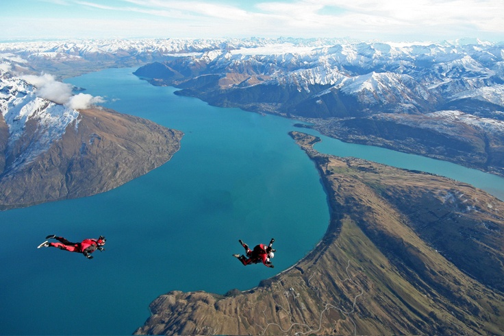 Penembakan New Zealand Pinterest: Skydiving, Photographers And Queenstown New Zealand On