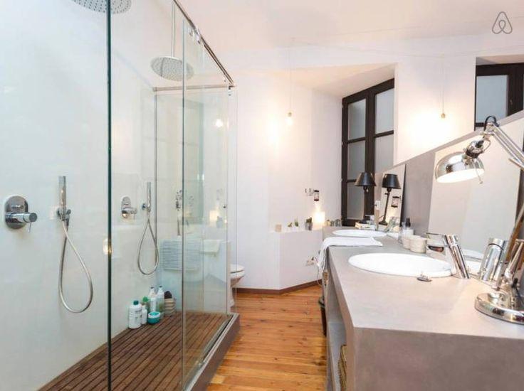 Fotos duchas duchas para exteriores cubierta de bamb with - Ducha doble ...