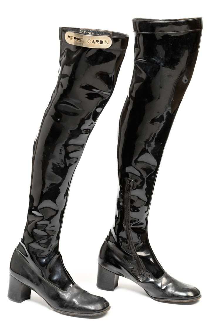 PAIR OF BOOTS PIERRE CARDIN,1966-1969 PVC plastic with ...