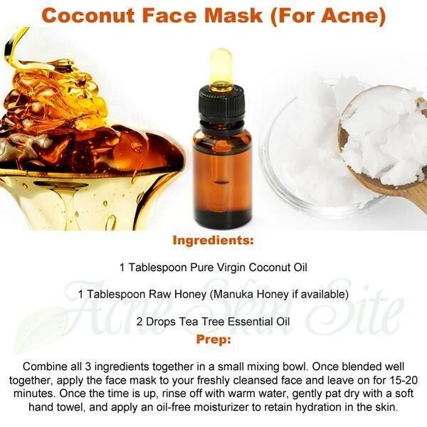 Twitter / AcneSkinSite: Coconut Face Mask (For Acne) ...