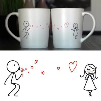 """From My Heart to Yours"" His & Hers Coffee Mug Set"