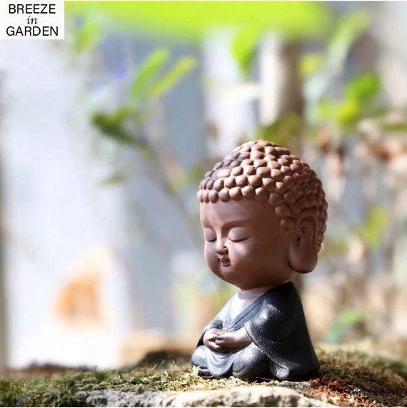 Buddha Statue Zen Garden Decor Meditating Buddha Figurine Cute Buddha Miniature Pottery Small Buddha Small Buddha Statue Buddha Buddha Meditation