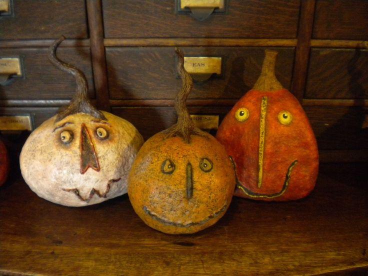 Folk For All Seasons: More Paper Mache Halloween Jack-o-Lantern ...