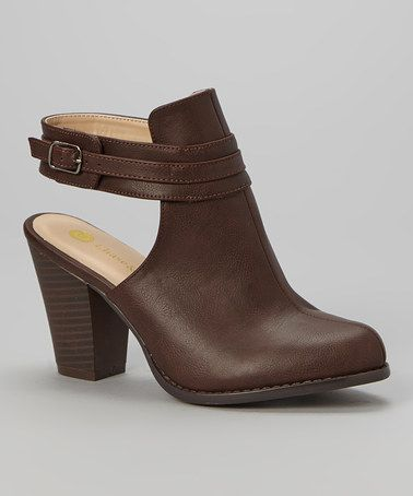 Look what I found on #zulily! Brown Natalie Mule by Chase & Chloe #zulilyfinds