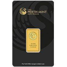10g Perth Mint Gold Minted Bar