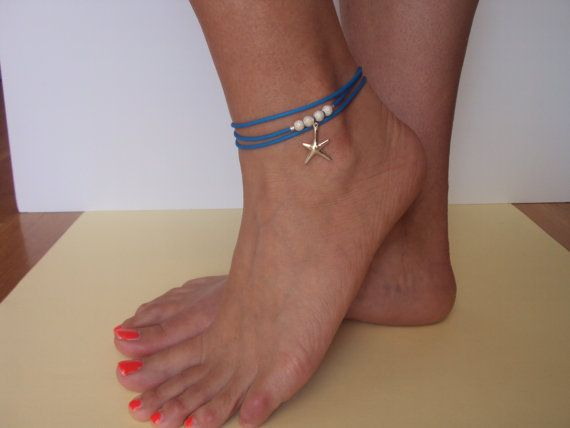 Beach Anklet  Foot Jewerly  Sterling Silver by VasiaAccessories