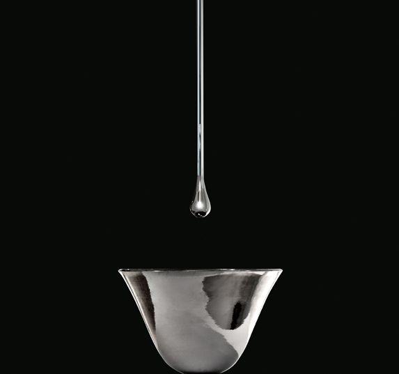 Gessi GOCCIA bathroom washbasin set in mirror grey