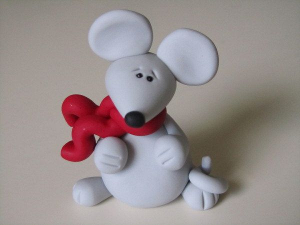 Image detail for -Polymer Clay Mouse Figure by ClayPeeps on Etsy
