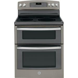 GE, 6.6 cu. ft. Double Oven Electric Range with Self-Cleaning Ovens in Slate, JB850EFES at The Home Depot - Mobile