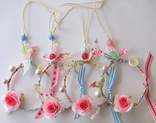 Spring mini Dreamcatcher sets by nestdecorating, via Flickr  These would make such a great party favor for a girl's birthday party!
