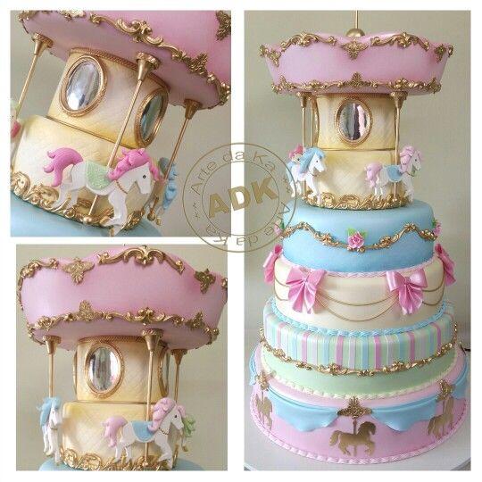Carrousel cake - Bolo carrosel