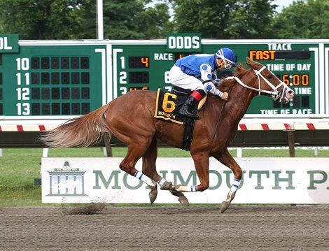 An aggressive early ride by Nik Juarez early paid off for Res Judicata controlled the pace early and drew off in the stretch for an upset win in the $100,000 Salvator Mile Stakes (gr. III) July 2, 2016 at Monmouth Park.