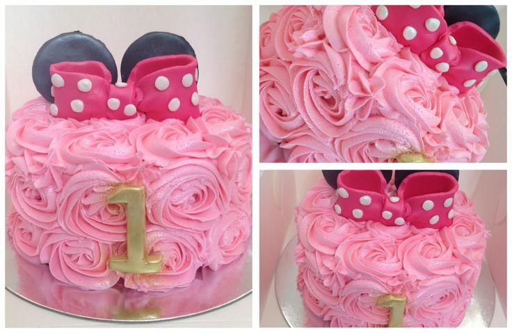 Vanilla buttercream mini mouse smash cake