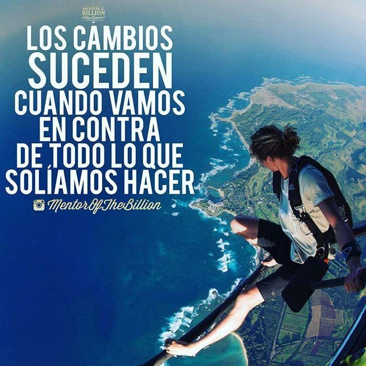 Los cambios son buenos cuando van enfocados a cumplir tus sueños, ser una mejor persona y por supuesto ser feliz @mentorofthebillion #frases #paulocoelho #mentorofthebillion #inspiración #motivación #éxito #consejosserfeliz