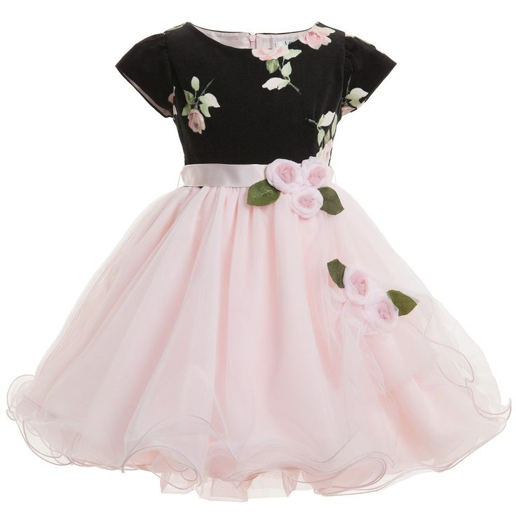 Lesy Black Velvet & Rose Pink Tulle Dress at Childrensalon.com