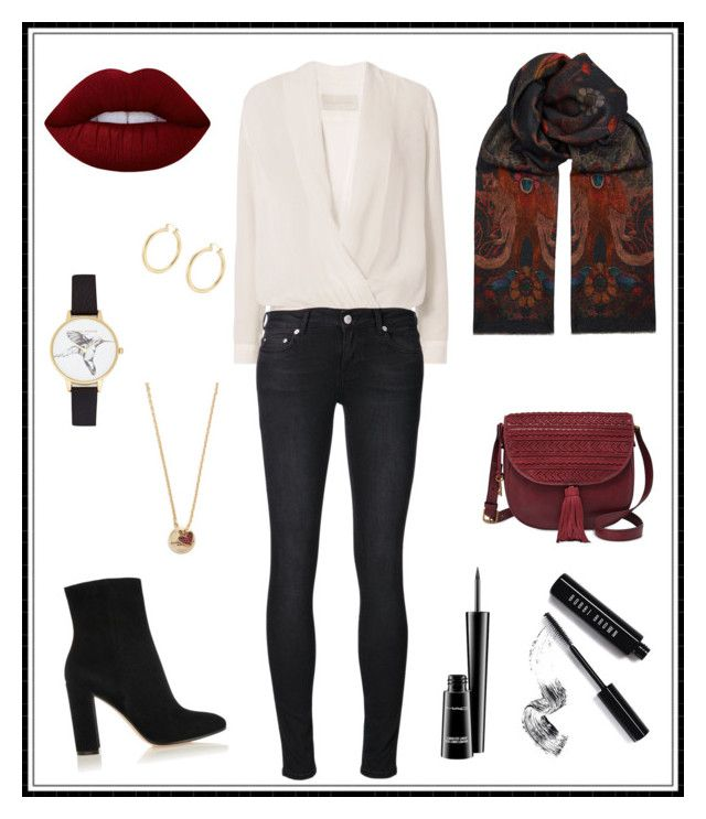 """#158"" by e-elmedal on Polyvore featuring Michelle Mason, BLK DNM, Paul Smith, Gianvito Rossi, FOSSIL, Lime Crime, Bobbi Brown Cosmetics, MAC Cosmetics, Olivia Burton and Marc Jacobs"