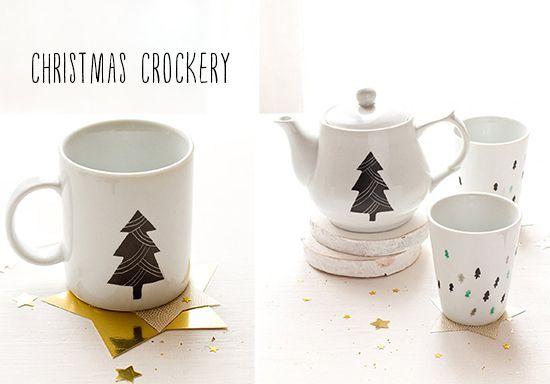 Christmas crockery on Lottie Loves...