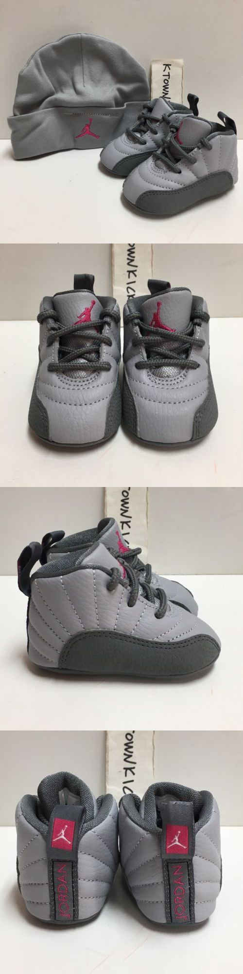 Infant Shoes: Nike Jordan 12 Retro Baby Hat Crib Shoes Gift Pack Grey Pink378139 029 Size 1C -> BUY IT NOW ONLY: $44.99 on eBay!