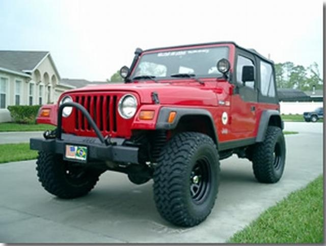 Flat Top Hoop Style Brush Guard.  Fits: TJ and YJ Jeep Wranglers (1987-2006).  $74.95