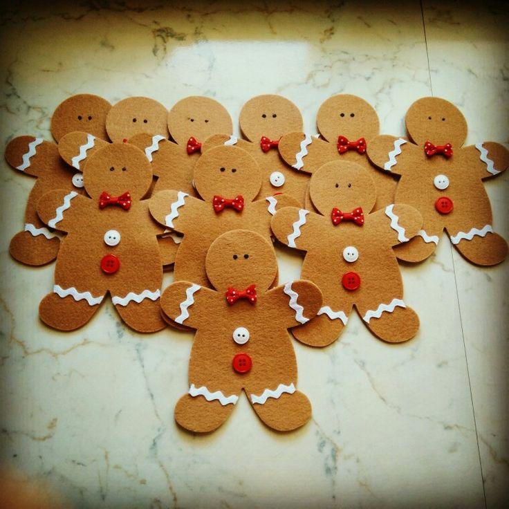 Natale: Omino pan di zenzero in feltro :)