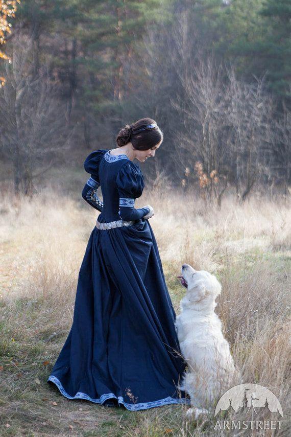 Fantasy medievale cotone abito Principessa perduta di armstreet