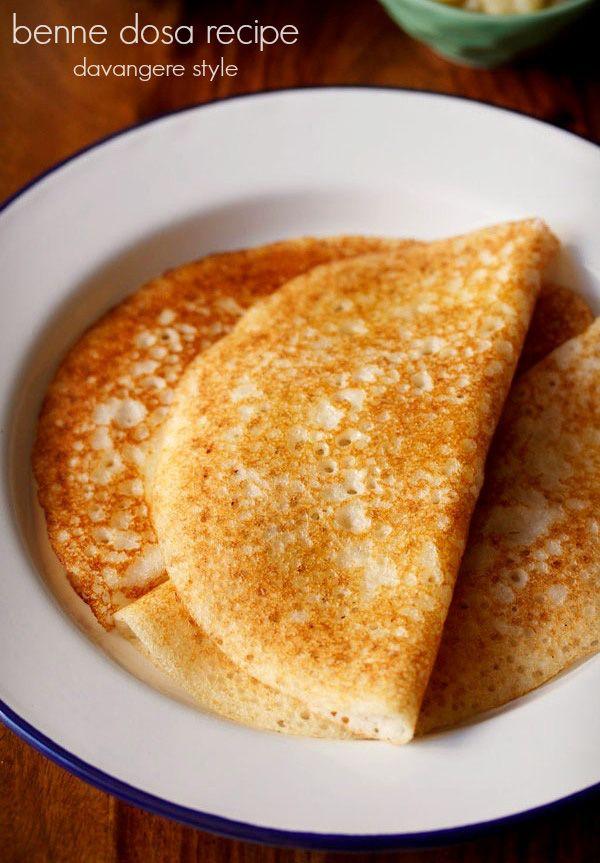 davangere benne dosa recipe – crisp, soft dosas or crepes made from fermented lentil-rice batter #benne #dosa #southindian