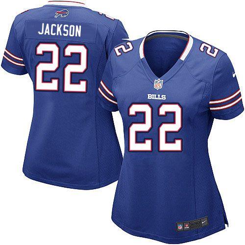 womens nike nfl buffalo bills 22 fred jackson game team color blue jersey 69.99