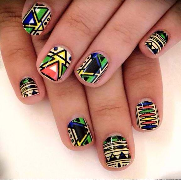 African Nail Art: 1000+ Images About African Inspired Nails On Pinterest