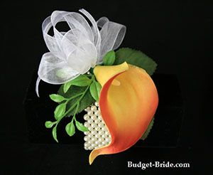 Wedding Calla Lily Wrist Corsage Prom Homecoming Ideas