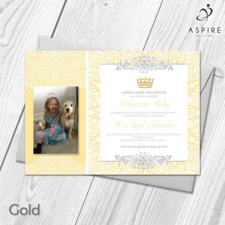 wording for party invitations uk%0A Personalised Princess Girls Birthday Party Invitations Cards With Photo  Custom Made With Your Own Photos and