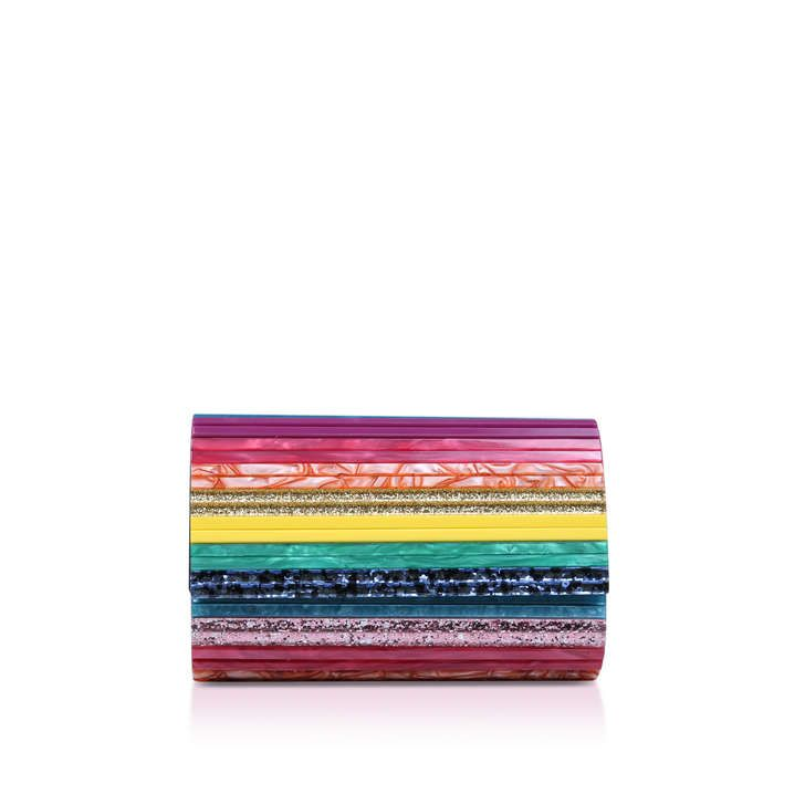 Party Envelope Multi Coloured Clutch Bag By Kurt Geiger London | Kurt Geiger