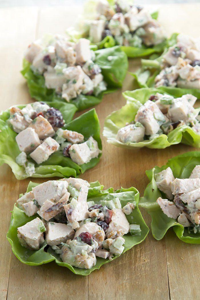 Chicken Salad Lettuce Wraps  #chicken