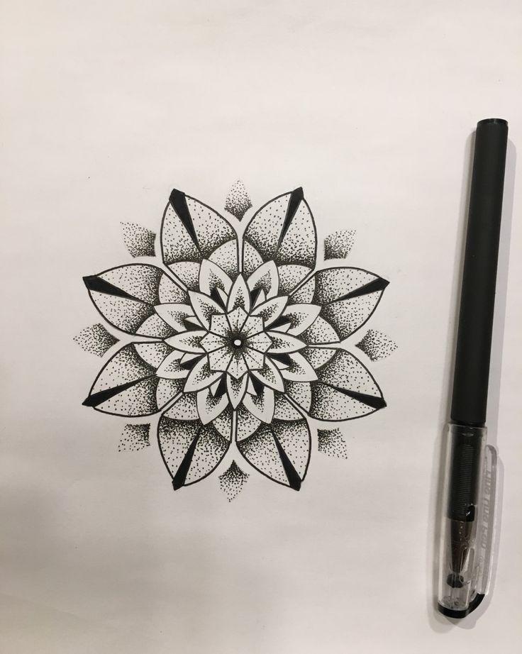 031a29117 Mandala dot work flower tattoo Design drawn up by Travis Allen @ twistedtattoo Yaxley . Get