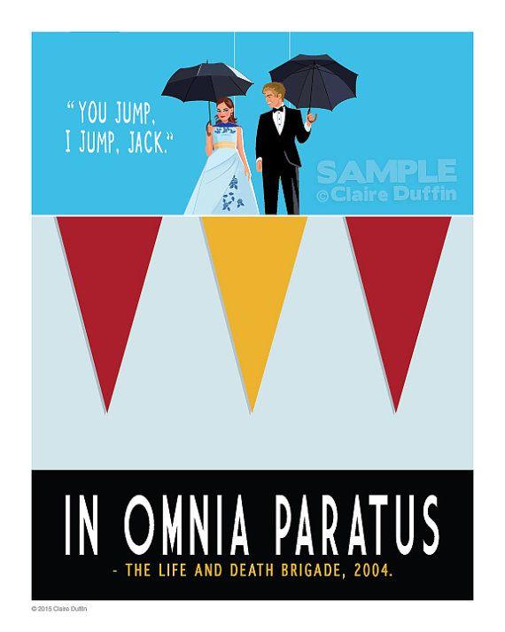 In Omnia Paratus Gilmore Girls Art Print by OperationPumpkin