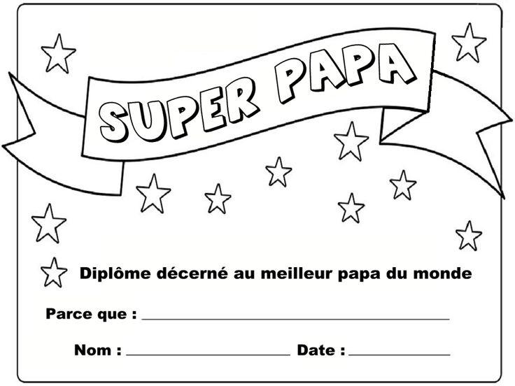 Dipl me du meilleur papa 9 mod les imprimer th me f te des p res et des m res diplome du - Diplome du super papa a imprimer gratuit ...