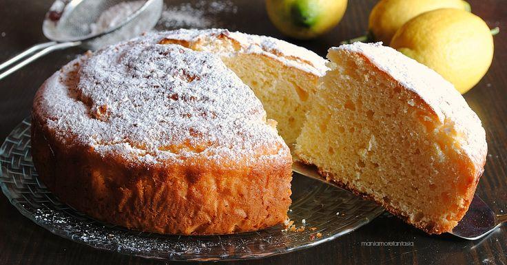 Torta+al+limone+e+yogurt+con+ricotta,+soffice+e+golosa