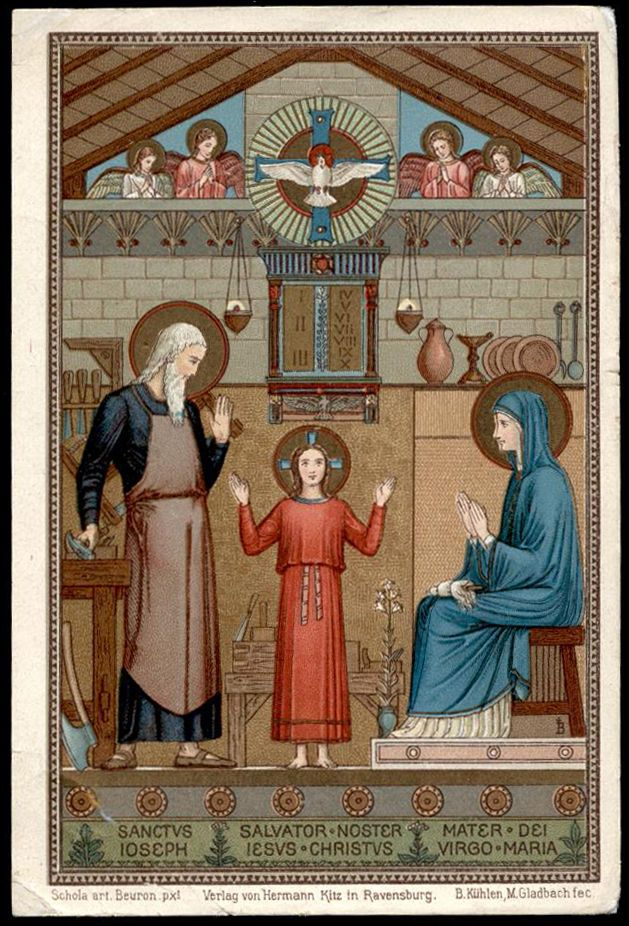 old holy card chromo*HOLY FAMILY 12 beuron