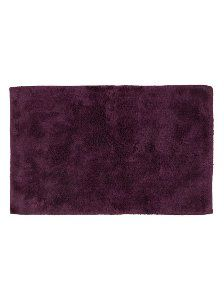 George Home 100 Egyptian Cotton Bath Mat Aubergine