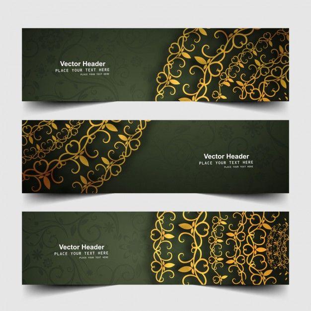 Çiçek web banner Ücretsiz Vektör