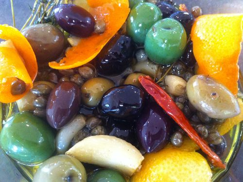 Citrus Marinated Olives | Epicurious | Pinterest