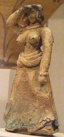 Bronze female figure Cretan Late Minoan I 1600-1450 BCE Metropolitan Museum