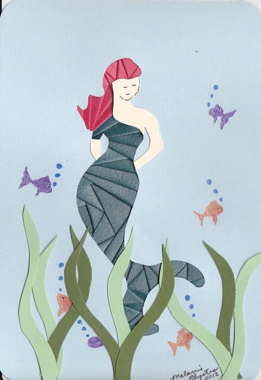 Iris folded Mermaid