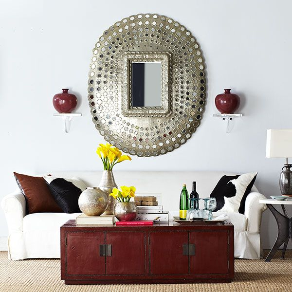 Wisteria - Mirrors & Wall Decor - Mirrors - All Mirrors - Antiqued Peacock Mirror Thumbnail 1