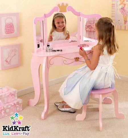 KidKraft Princess Vanity Table and Stool Set
