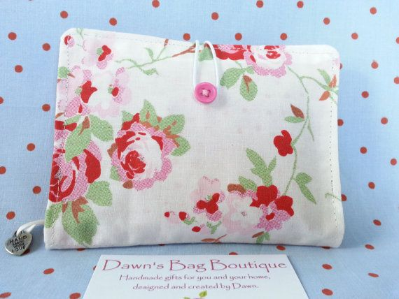 Sanitary Pad holder Sanitary pad pouch by DawnsBagBoutique on Etsy, £6.00 Pretty sanitary pad cosy or pad holder, in IKEA/Cath Kidston Rosali fabrics.