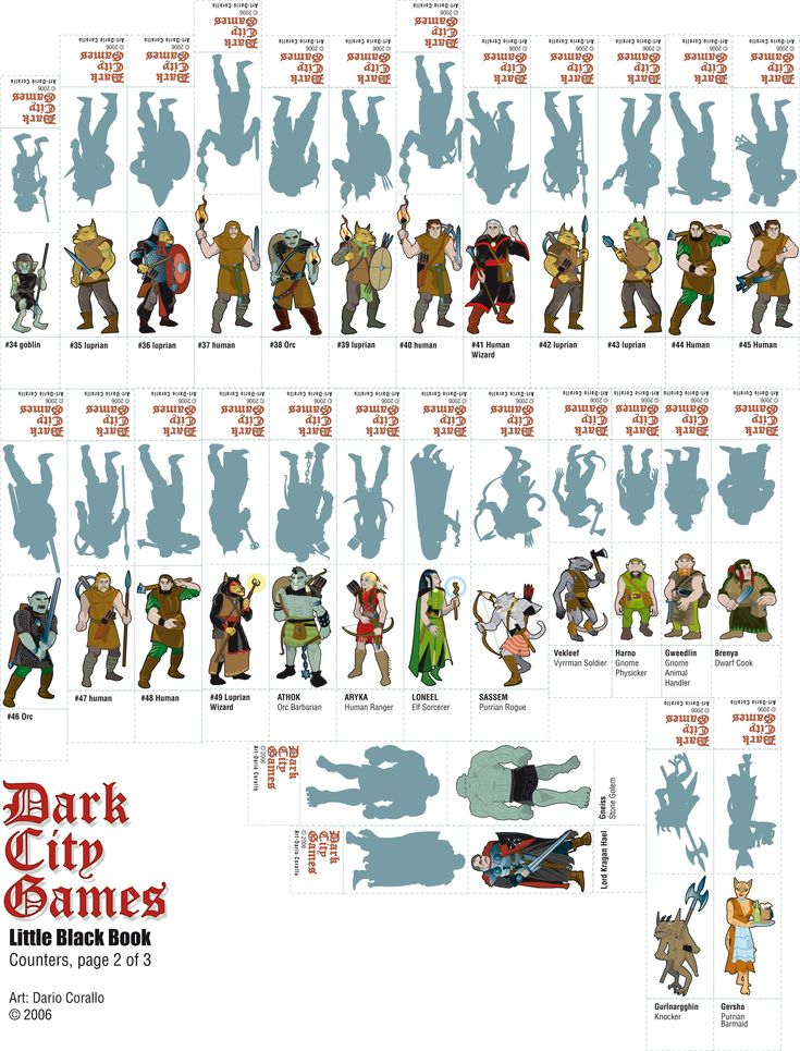 Crafty image intended for d&d printable miniatures