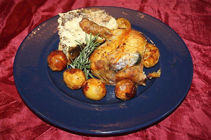 Pollo ripieno con farcia al tartufo